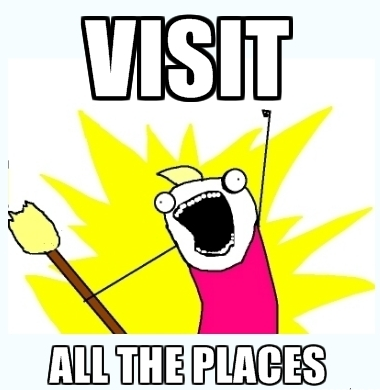 How I usually am, when we arrive in a new place.