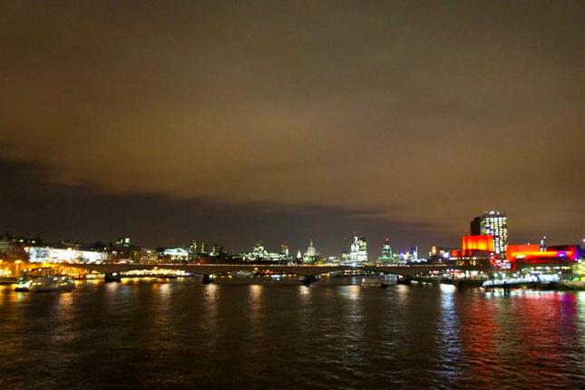 London City night time sky scrapers