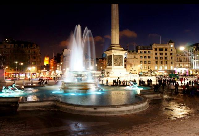 London night time landscape