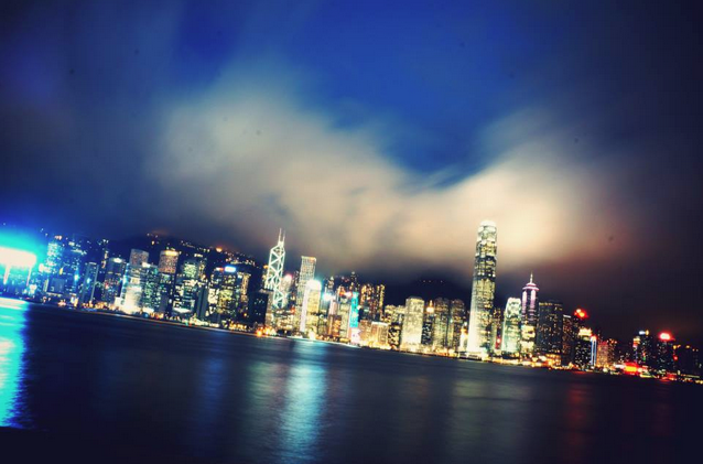 Hong Kong slow shutter speed skyline