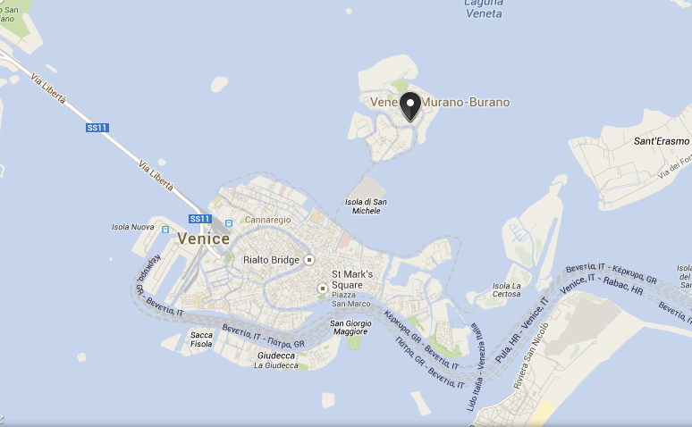 You can see here which island the hotel is located on. See, not too far!