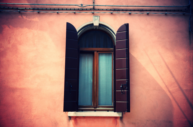 Beautiful windows in Venice