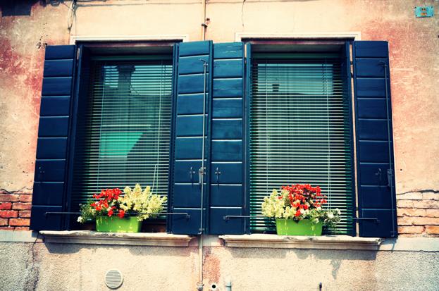 Beautiful windows in Venice