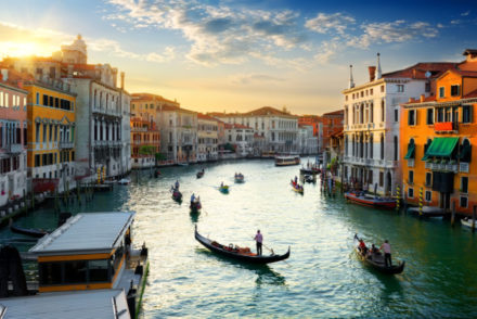 Grand,Canal,In,Venice,At,The,Sunset,,Italy.
