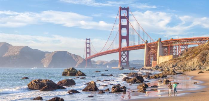 best places to view the golden gate bridge baker beach