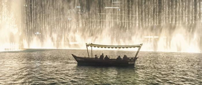 Dubai fountains boat