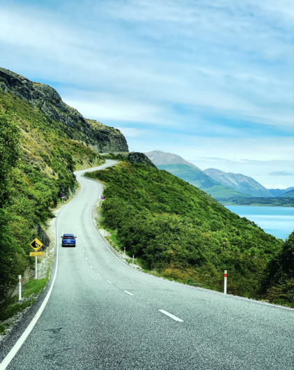 Driving from queenstown to glenorchy nz