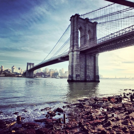 Photos of the Brooklyn Bridge beach