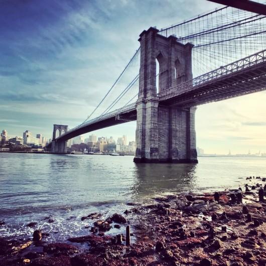 Photos of the Brooklyn Bridge beach