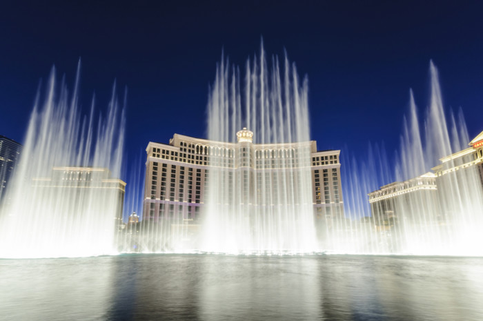 best place to watch bellagio fountains