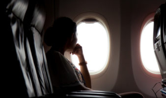 how to stop dry nose when flying