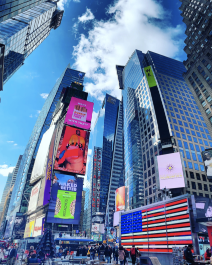 how to take a picture in Times Square nyc 2020