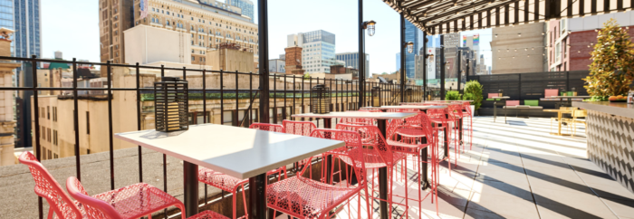list of outdoor rooftop bars in NYC