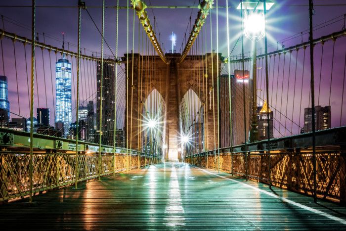 the best places to take pictures in NYC at night time