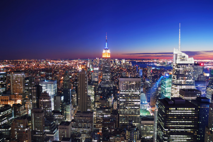 the best spots to take pictures in NYC at night