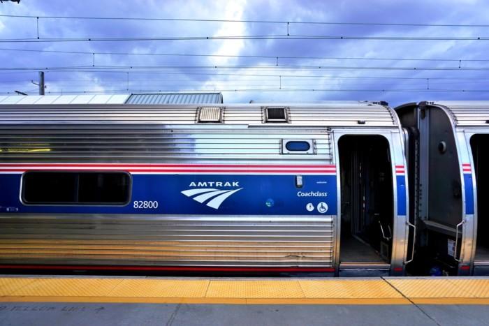 Amtrak trains!