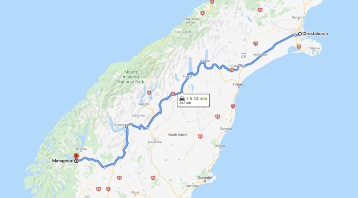 driving to Manapouri