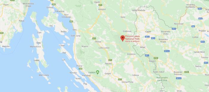 Plitvice Lakes location
