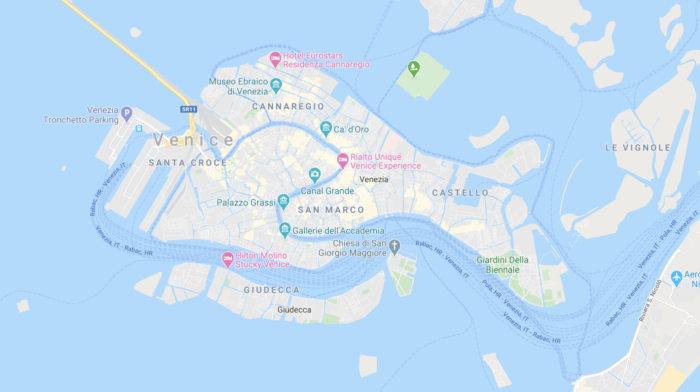 is Venice expensive map