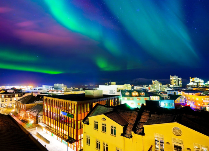 Reykjavik best place to view northern lights