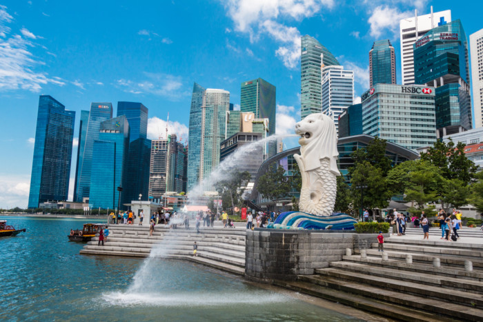 best place to see Singapore skyline