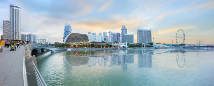 best place to see the Singapore skyline
