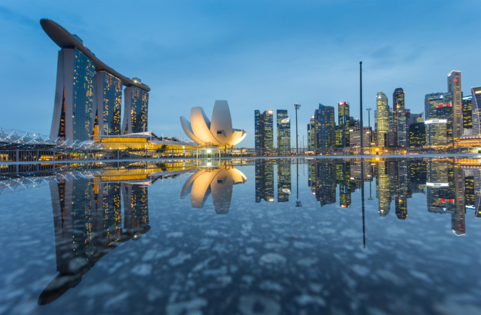 the best place to see Singapore skyline