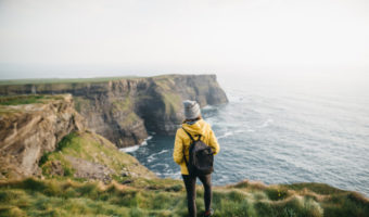 hiking the cliffs of Moher in Ireland