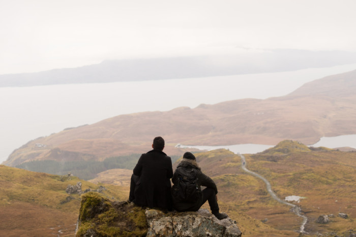 hiking to see the scottish highlands