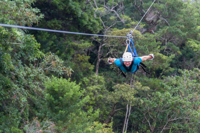 zip lining locations in new york