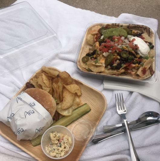 aria pool food in las vegas