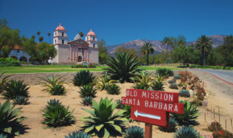 california mission map Mission Santa Barbara