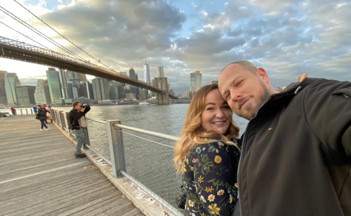Honeymoon in New York.