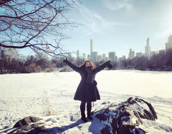 photos of central park in winter