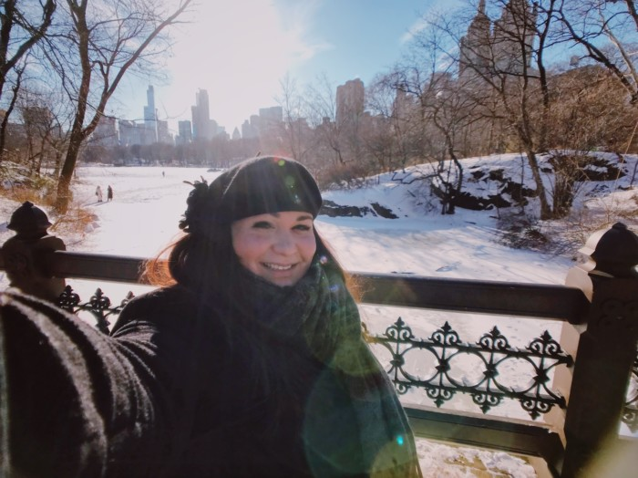photos of central park in winter 2