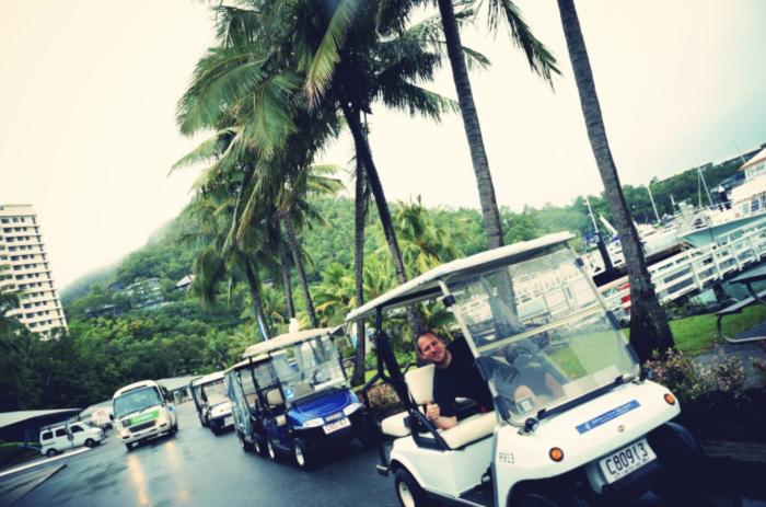 Hamilton Island golf buggy
