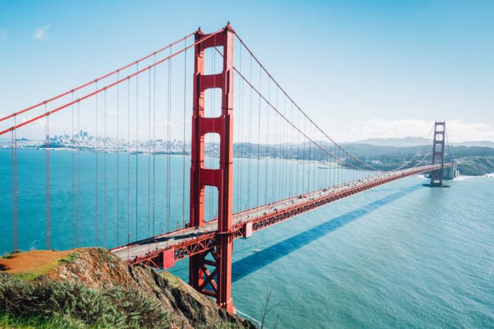 best view of Golden Gate Bridge from Battery Spencer