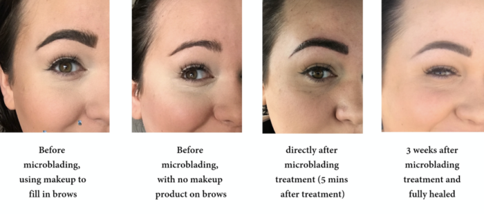real microblading before and after
