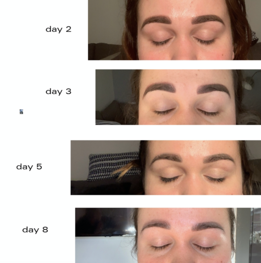 real-microblading-colour-fade-photos