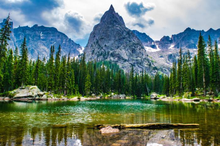hiking Lone Eagle Peak