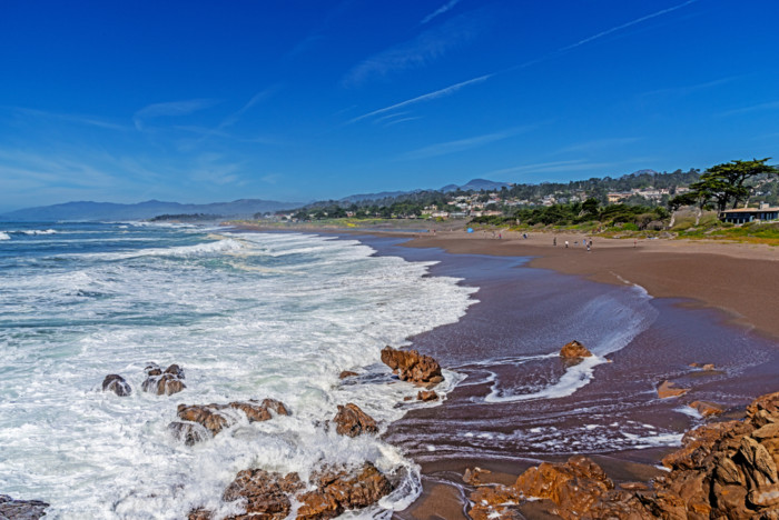 Moonstone Beach, California.