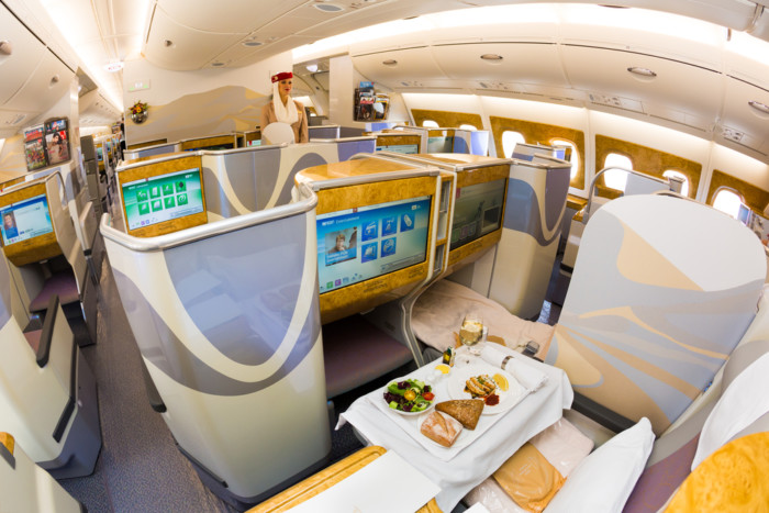 Emirates business class during pandemic 2021