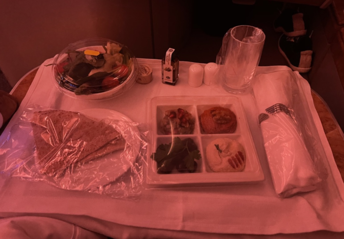 Emirates business class during pandemic.