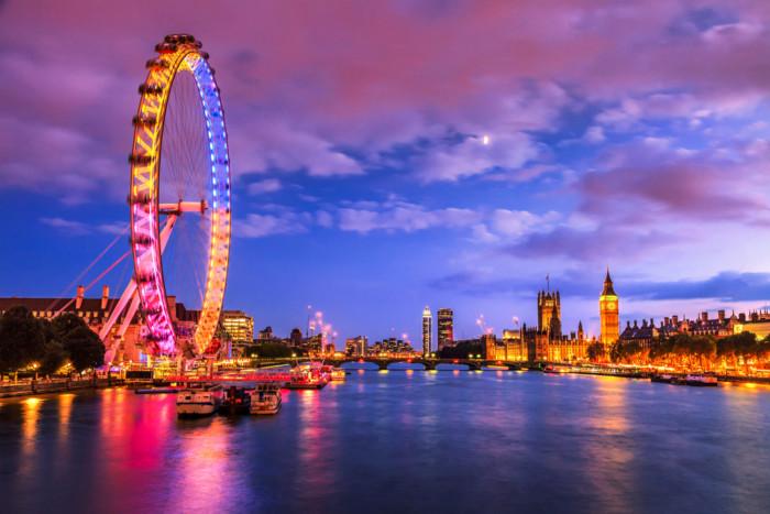 London sightseeing the london eye