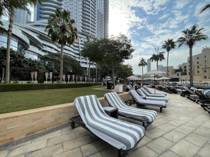 The Address Downtown Hotel in Dubai pool area