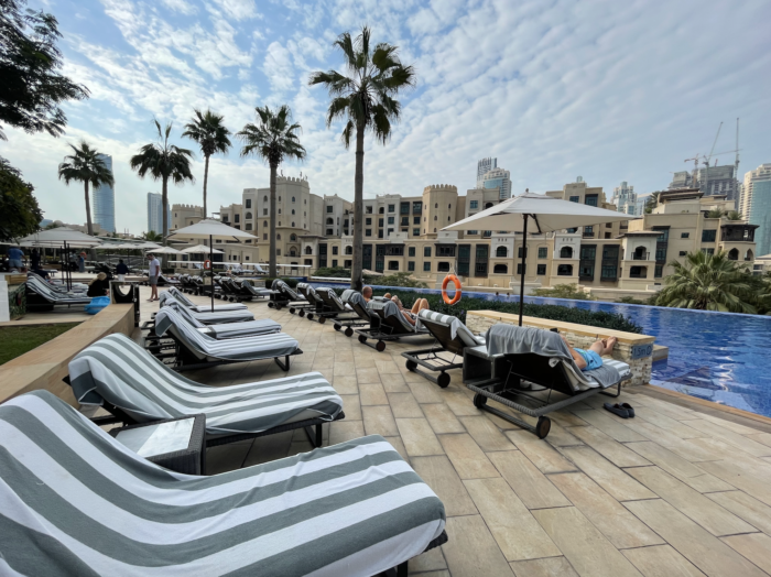 The Address Downtown Hotel in Dubai pool view