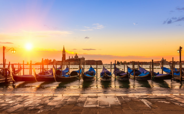 Sunrise,In,San,Marco,Square,,Venice,,Italy.,Venice,Grand,Canal.