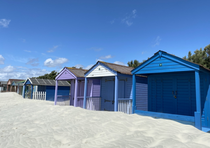 beach huts on west wittering beach