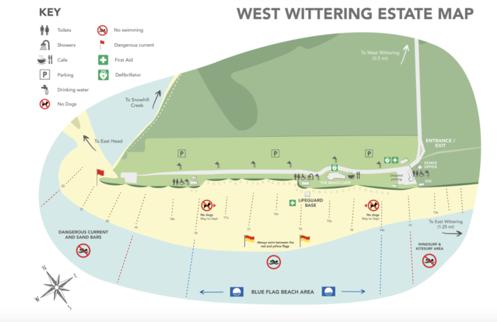 map of west wittering beach