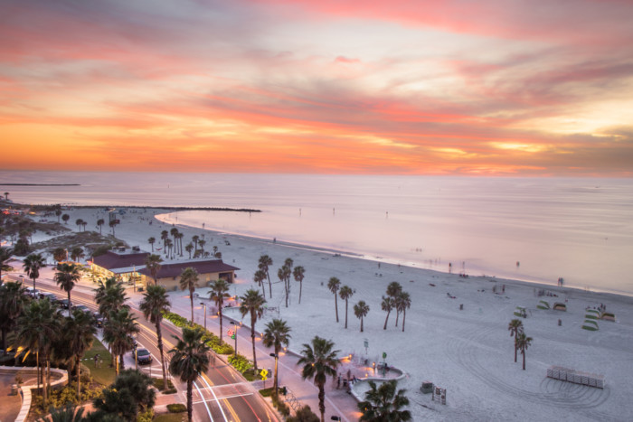 Clearwater Beach near orlando At Sunset